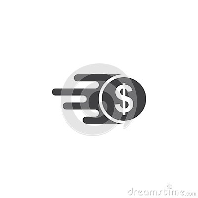Free Fast Money Icon, Quick Transfer Of Vector Icon Isolated White Background Royalty Free Stock Photo - 122093575