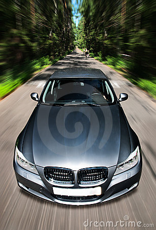 Free Fast Moving Car Royalty Free Stock Photo - 21572505