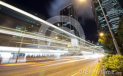 Fast Moving Traffic at Night