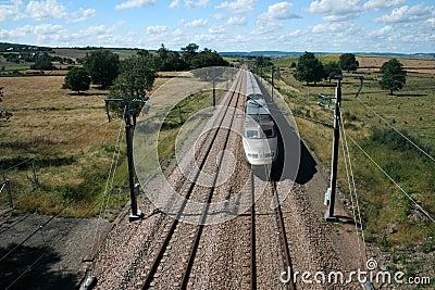 Fast moving train TGV