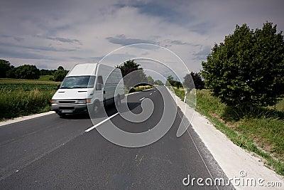 Fast moving van