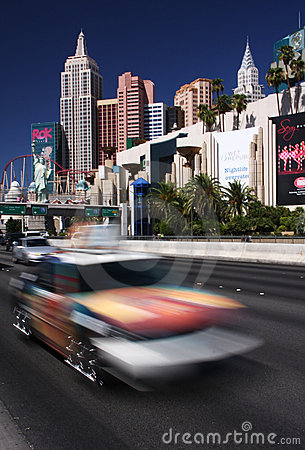 Fast moving Vegas Editorial Stock Image