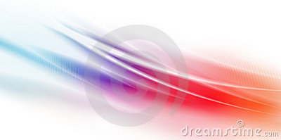 Fast power waves over colorful background