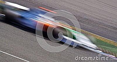 Fast race car blur