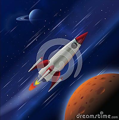 Fast Rocket in Space