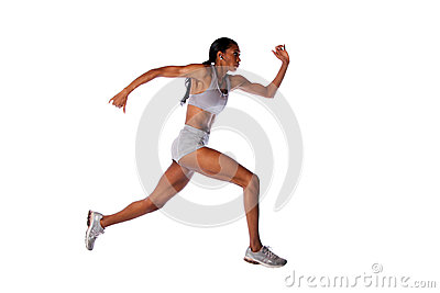 Fast running athlete  woman