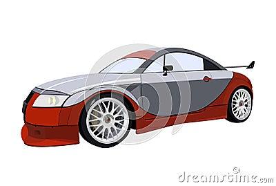 Fast sport racing car