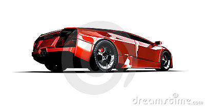Fast sports car. 3D illustration