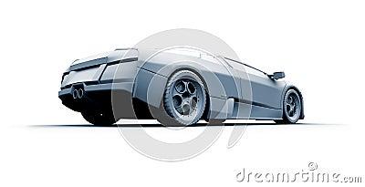 Fast sports car. 3D model