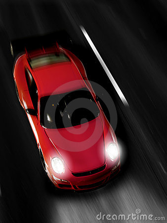 Fast sportscar at night Editorial Stock Image