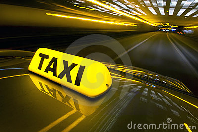 Fast taxi Stock Photo