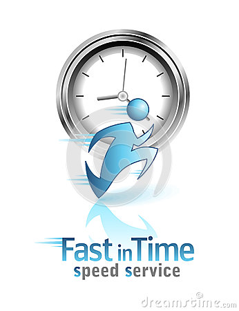 Fast in Time. Social icon Vector Illustration