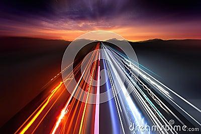 Fast Traffic Light Trails