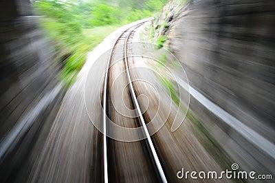 Fast train blurred