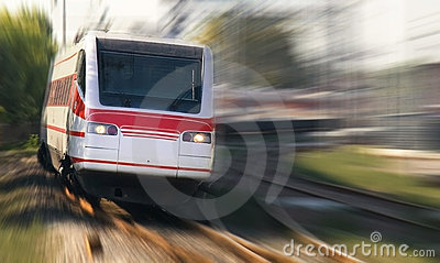 Fast train in the morning
