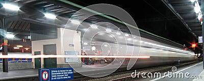 Train passing Geneva station