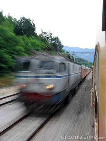 Fast train passing