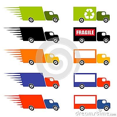 Fast Trucks Clip Art