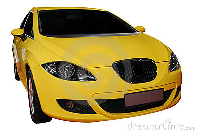 Fast yellow car