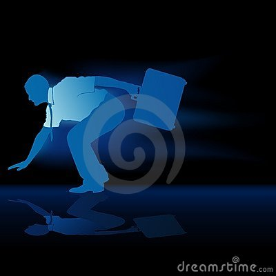 Faster Businessman Silhouette