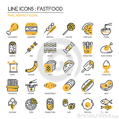 Free Fastfood, Pixel Perfect Icon Stock Photography - 72001012