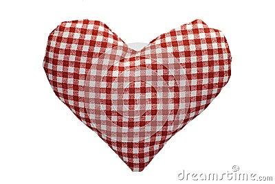 Faszerujący gingham serce