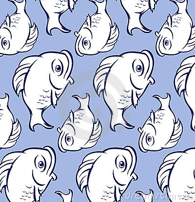 Fish Blue on Fat Blue Fish Pattern Stock Photos   Image  21111613