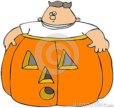 Fat Boy In A Pumpkin