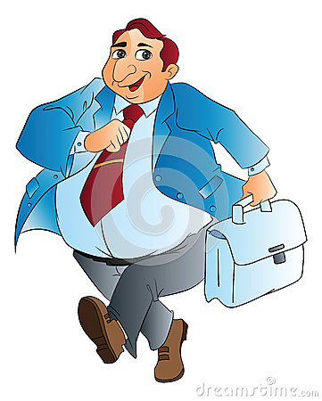 Fat Businessman, illustration