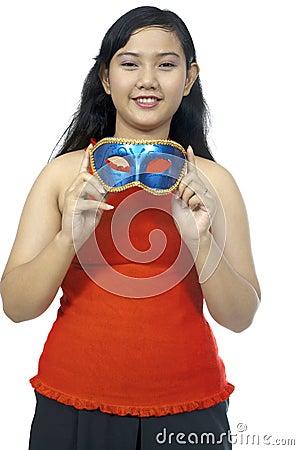 Fat Chubby Girl Wear Mask