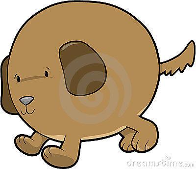 Fat Dog Vector Royalty Free Stock Photos - Image: 6428458
