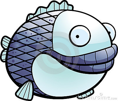Fish Blue on Fat Fish Royalty Free Stock Image   Image  9024596