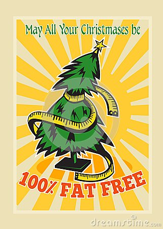 Fat Free Christmas Tree Tape Measure