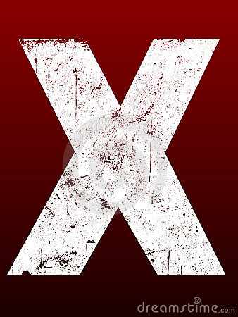 Fat Grunge Letters - X