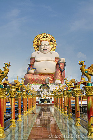 Free Fat Laughing Buddha Over Blue Sky Stock Photography - 14879412
