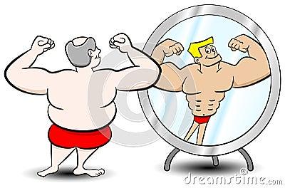 Fat muscle man