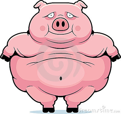 Fat Pig Stock Images - Image: 13672644