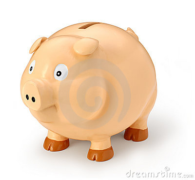 Free Fat Piggy Bank Royalty Free Stock Photo - 3767225