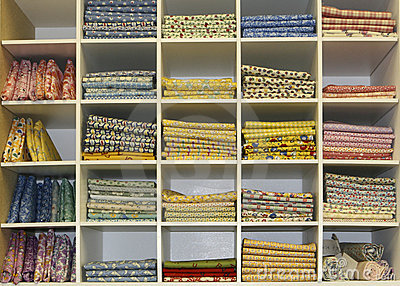 Fat Quarters Quilt Display