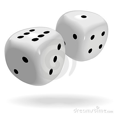 Free Fat Shiny Dice Roll A Lucky Seven Royalty Free Stock Photos - 5131448