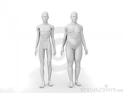 Fat and skinny man