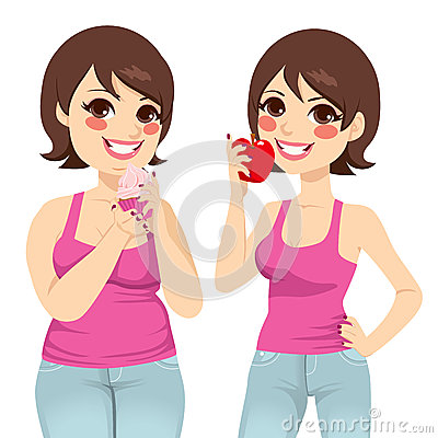 Fat And Slim Woman Diet