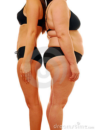 Free Fat Thin Woman Stock Images - 14037264