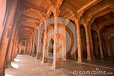 Fatehpur Sikri Red column corridor, India