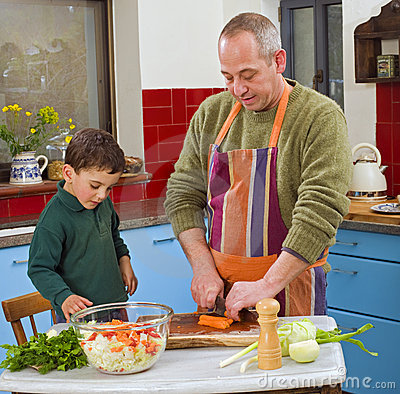 Free Father And Child Cooking Stock Images - 8758654
