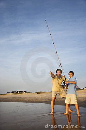 Free Father And Son Fishing Stock Photography - 2051702