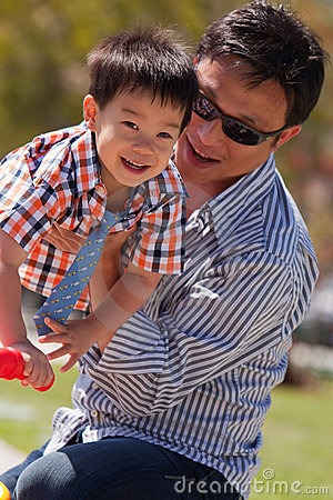 Free Father And Son Have Fun Royalty Free Stock Photo - 14267825