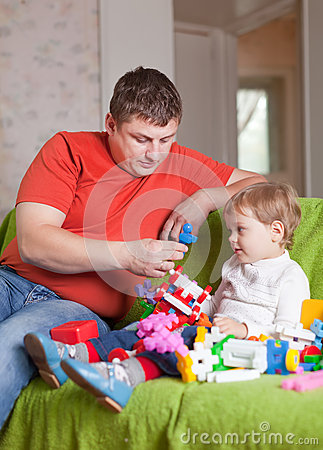Free Father And Three-year Child In Home Stock Images - 26616644