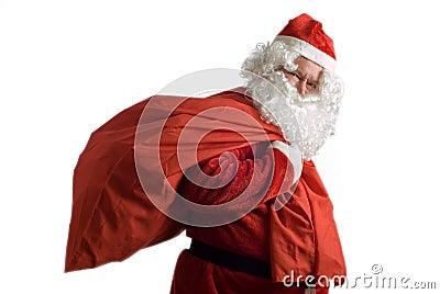 Father Christmas and sack of presents