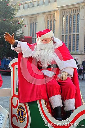 Father Christmas or Santa Claus waving. Editorial Stock Photo
